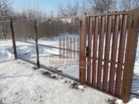 Калитка из Евроштакетника, ворота сетка-рабица